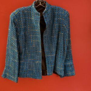 Jackets & Blazers - Vintage tweed blazer with open front. Size 12